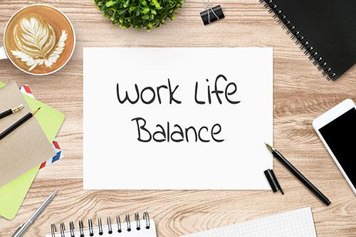 Work Life Balance written on a paper